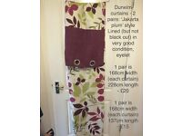 Jakarta Curtains by Dunelm—2 pairs