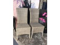 New Pair Of Rattan Occasional Chairs