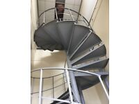 Industrial Spiral Steel Stairs/23 steps/Heavy Duty Spiral Stairs 2.4 x 2.4 x 4.2metres high