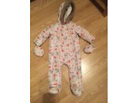 Baby girl snowsuit/pramsuit 9-12 months in excellent cond.