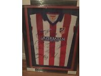 Athletico Madrid Framed Shirt Momoribillia