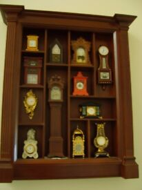 Franklin Mint Miniature Clock Collection.