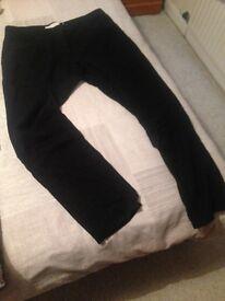 Next Women's linen trousers, size 14, long, narrow leg, Black