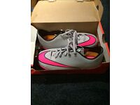 Nike Mercurial AstroTurf Boots. Size 5.5 BRAND NEW IN BOX. Grey and Pink.