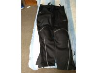 Swift waterproof textile motorcycle trousers