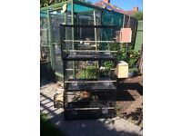 3 large cages for sale, with or without nest box, used very briefly