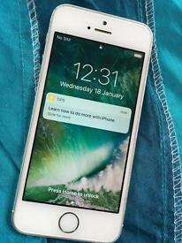 iPhone 5s white silver 16gb on Vodafone