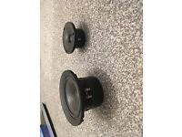wharfedale cambridge bass driver and matching tweeter