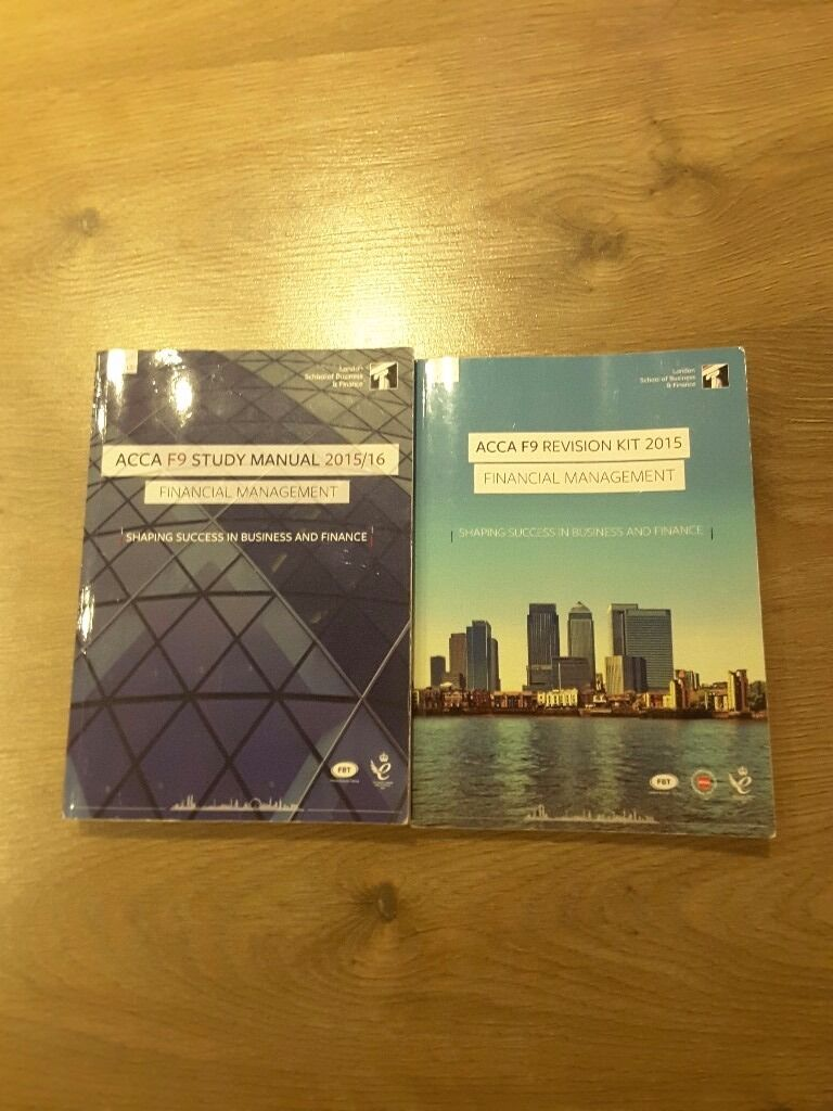 Acca F9LSBF study materialsin Edmonton, LondonGumtree - Acca F9 LSBF study material includes study manual and revision kit in good condition