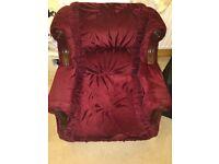 maroon velvet sofas