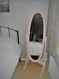 Wooden (painted) Cheval Mirror