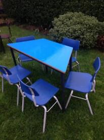 Childs table and five chairs