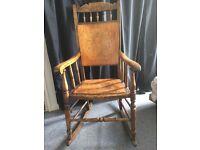 Antique / Vintage wooden rocking chair