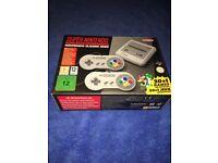 Super Nintendo Entertainment System SNES Classic Mini.