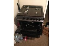 Gas cooker with extractor fan