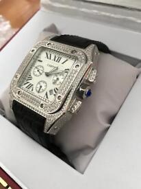 Cartier Santos 100 Diamond Watch