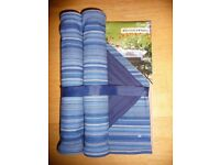 NEW SAFDIE & CO. RIVIERA SET OF 4 BLUE / GREEN PLACE MATS & NAPKINS 100% COTTON