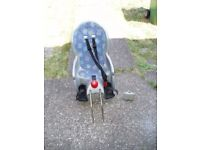 HAMAX,CHILDS SEAT Fits to REAR of CYCLES, Adjustable for Rake, Clean Seat.
