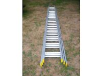 Lyte extending aluminum 3 tier ladder