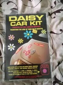 Daisy car stickers.