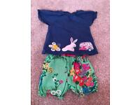 Girls next shorts and top Set age 2-3