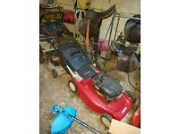 Lawnmowers and chainsaws for sale