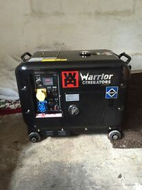 Silent diesel generator 6kva only 26 hours use from new