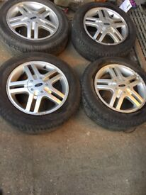 """FORD FOCUS SET OF ALLOYS WITH TYRES 15"""""""