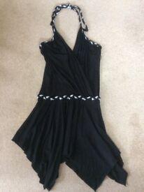 Black Halter Neck Party Dress Size S