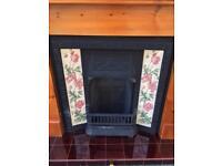 Full fireplace cast iron