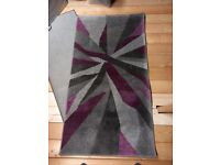 Purple / grey patterned Rug