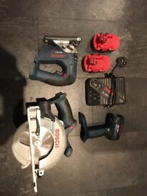 Bosch 18volt powertool kit (HARDLY USED)
