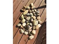 Large stone pebbles