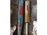 *Full Cricket Set* BDM Titanium English Willow Cricket Bat & Various Other Cricket Gear