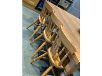 Country kitchen dining chairs x 6