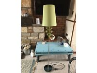 NEXT Green standing lamp/table lamp combo