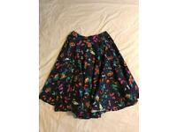 Navy blue 50s skirt