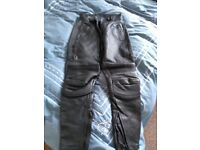 Ladies Motorcycle Leather Armoured Trousers