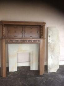 fire surround hearth and backplate