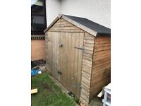 Wooden Garden shed for bike / tools