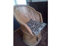 old vintage sisal or sugar cane armchair in very good condition can deliver
