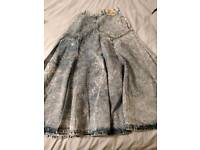Ladies denim long skirt size 12