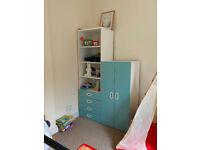 Ikea Stuva Children wardrobe blue/turquoise