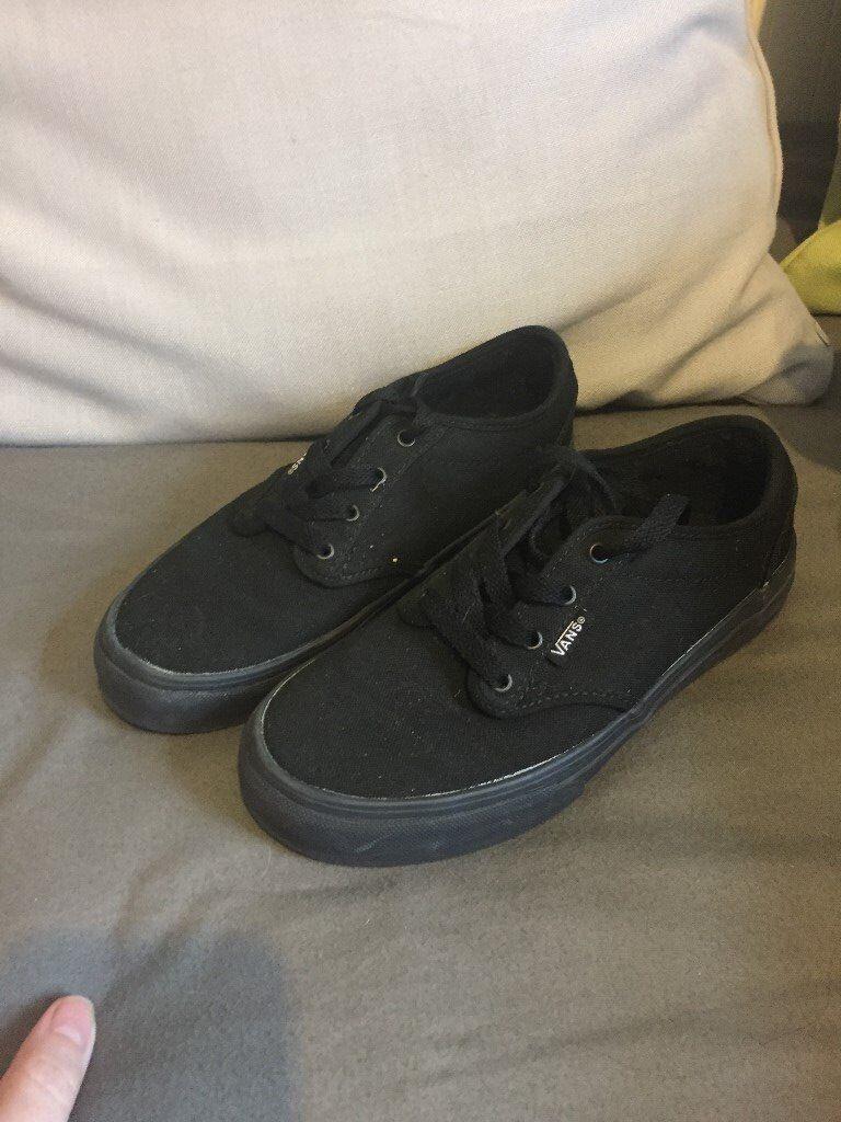 1fd9411486cf02 Kids Vans shoes. Black. Size 2.5. Never worn.