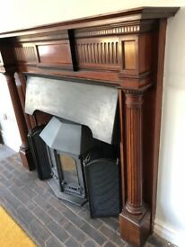 Large wooden fire surround/mantelpiece