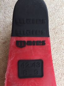 Mares SuperChannel fins (flippers!), size 42-43 (8-9)