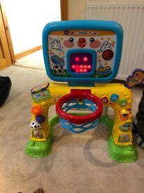 Vtech 2 in 1 sports centre basketball and football