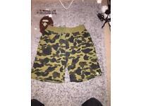 Bape camo shorts size XL