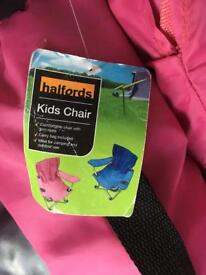 Two pink children's camping outdoor chairs £5 for both