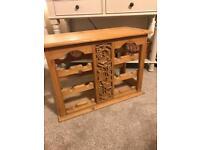 Antique pine wine rack